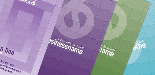 3 Styles Modern Business Cards with Color Variations