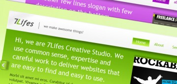 7Lifes Modernand Professional HTML CSS