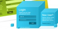 8 Modern Login Signup Panels - Set 2
