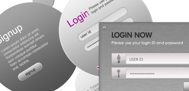 8 Modern Login Signup Panels