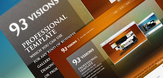 93VISIONS 4-in-1 Modern Professional HTML