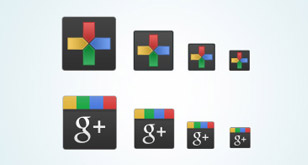 Freebie – 8 Google Plus (+) icons & free PSD file