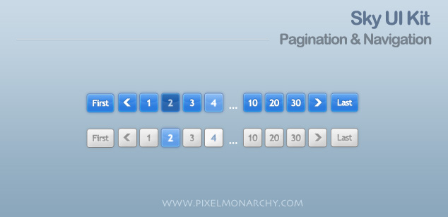 Pagination sky ui kit