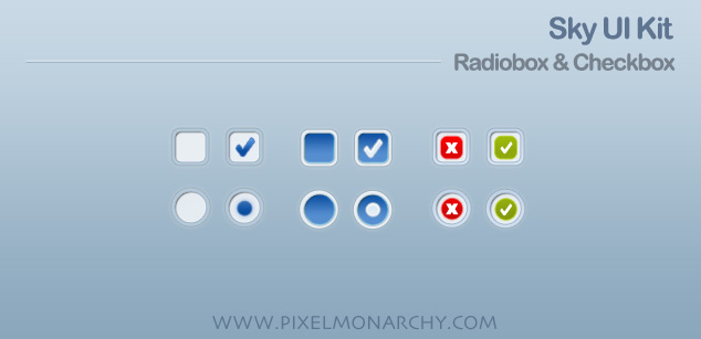 Radiobutton checkbox sky ui kit