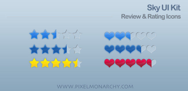 Rating icons sky ui kit