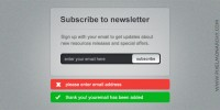 newsletter signup form