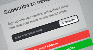 Newsletter Sign-up Form – Free PSD