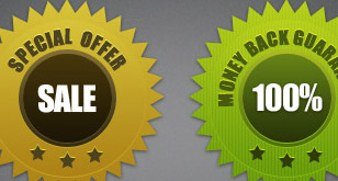 Clean Quality / Guarantee Seals – Free PSD