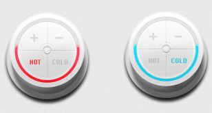 Clean Plastic Control Knobs – Free PSD Template