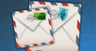 Pretty Envelope Icon – Free PSD Template