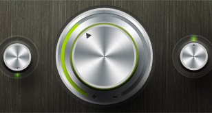 Radial Stainless Steel Knob (Free PSD)