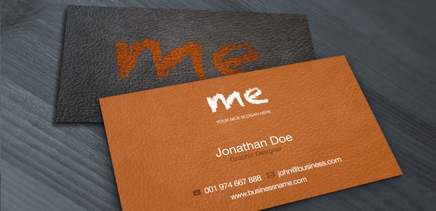 free psd leather business card free psd print template pixel