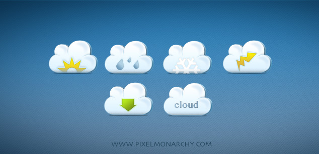 pretty little cloud icons