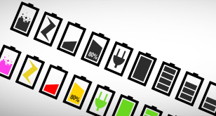 Minimalist Battery Icons Set – Free PSD File and PNG icons