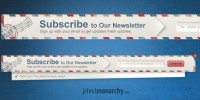 newsletter envelope sign up form