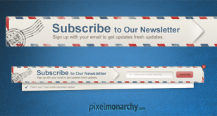 Newsletter Envelope Signup Pop Up Form – Free PSD