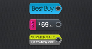 Modern Price Tags – Free PSD Template