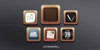 app icon wood frame