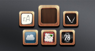 App Icons – Wood Frame Template – Free PSD