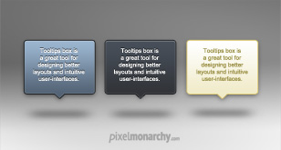 Tooltip Popup Boxes – Free PSD Template