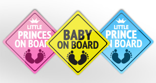 Baby on Board Badge – Free PSD File