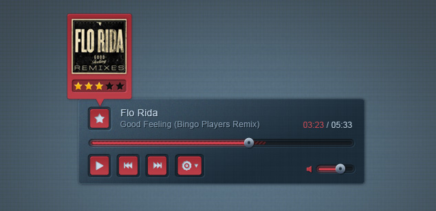 Free PSD: Stylish Music Player – Free PSD Template | Pixel Monarchy