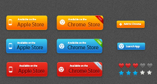 Free Apple and Chrome Store Vector Button – Free AI & PSD Files