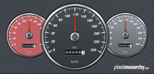 Free PSD: Car Speedometer – Free PSD Templates | Pixel Monarchy